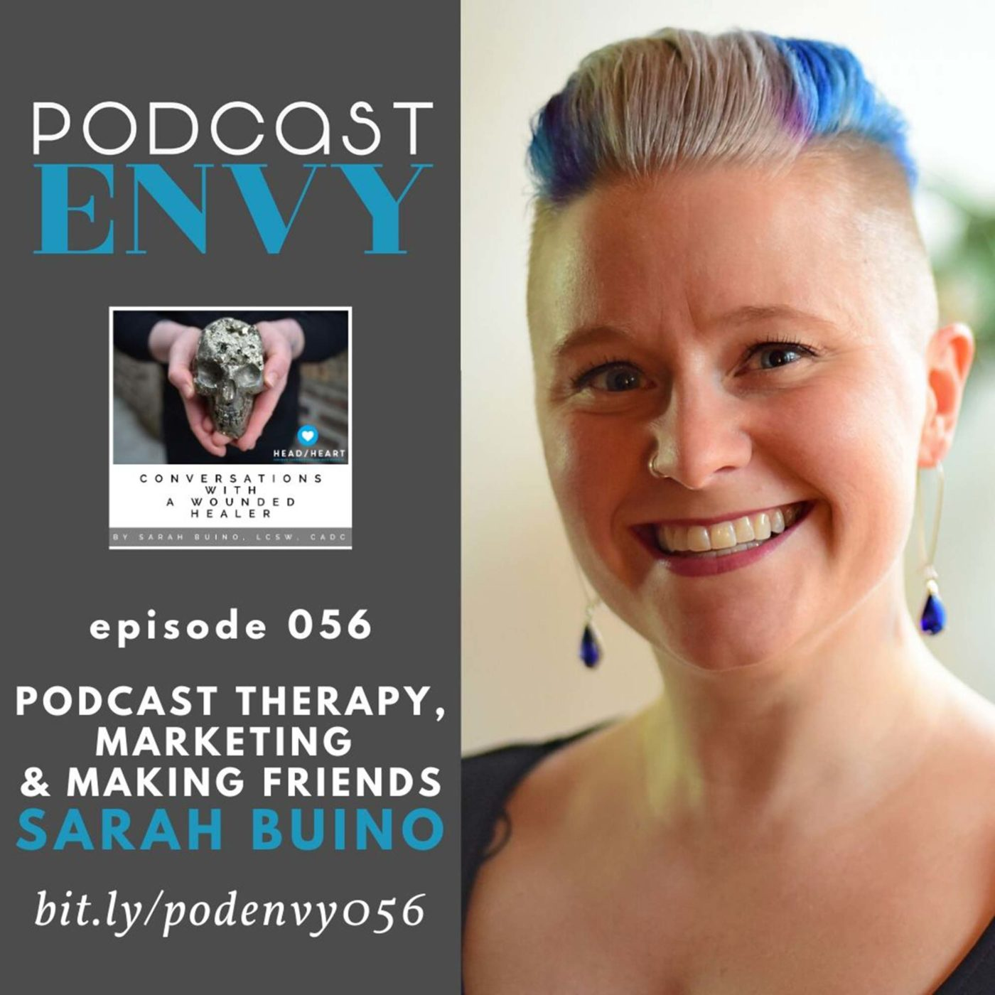 PE056: Podcast therapy, marketing, & making friends on your show with Sarah Buino